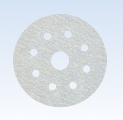 White Al/O with Stearate Sanding Disc