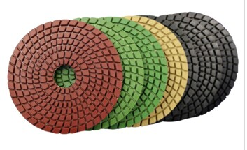 Diamond polishing pad for stone