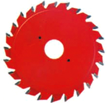 Double pieces adjustable scoring saw blade